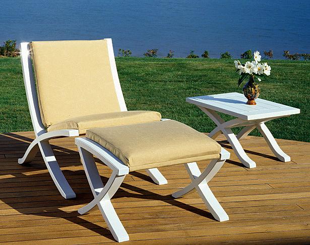 Cross Point Lounge Chair & Ottoman