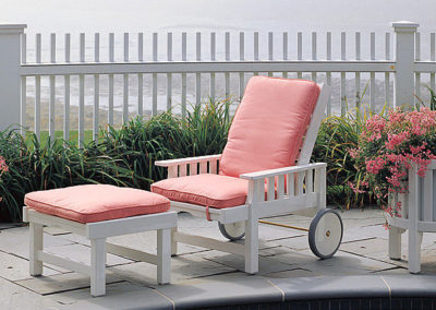Mt. Desert Sun Chair & Ottoman