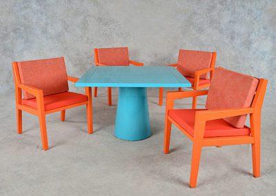 Square Mushroom Table