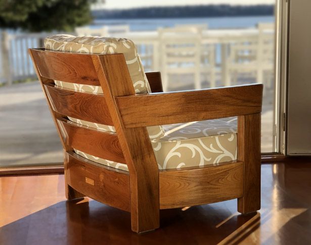 Teak with Clear Yacht Finish
